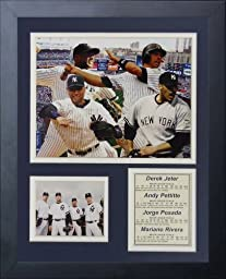 Legends Never Die New York Yankees 2009 World Series Core Four Framed Photo Collage, 11x14-Inch