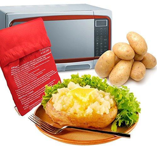 MyLifeUNIT Microwave Potato Bag, Baked Potato Microwave Baking Bag, Red (Microwave Tray 10 3 4 compare prices)