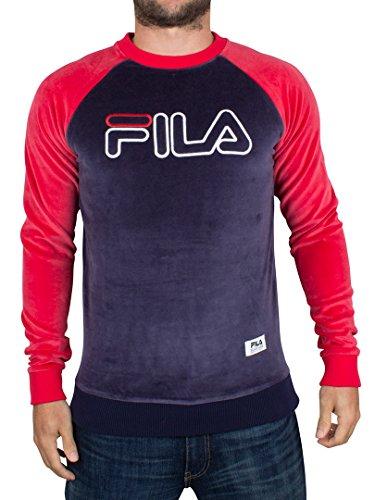 fila-serzo-crew-neck-logo-velour-sweatshirt-navy-red-m-38-40in