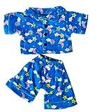 BLUE PJ'S PAJAMAS PYJAMAS TEDDY BEAR OUTFIT CLOTHES TO FIT 8