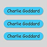 Personalised Stick on Waterproof Name Labels - BLUE (20)