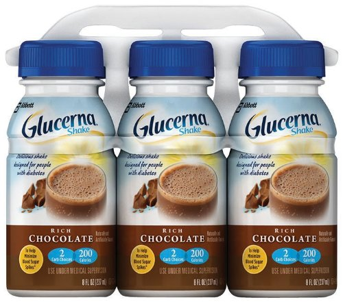 Glucerna Shake Rich Chocolate, 8 Ounce Bottles (Pack of 24) (Packaging May Vary)