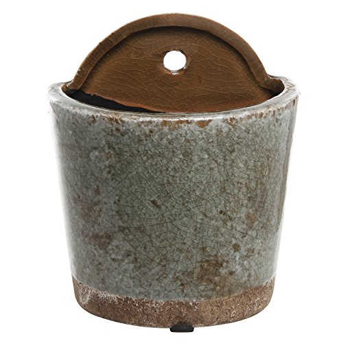 4 Inch Mini Rustic Style Wall Mounted Gray Crackle Glazed