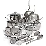 Wolfgang Puck Bistro Elite 19-piece Stainless Steel Cookware Set. Cook up Masterpiece Meals Just Like a Celebrity Chef. This Entire 19 Piece Set Will Be a Nice Addition to Your Kitchenware When Preparing Your Favorite Holiday Dinners.