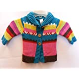 INFANT baby button down sweater jacket CARDIGAN coat colorful 0-24 100% ACRYLIC