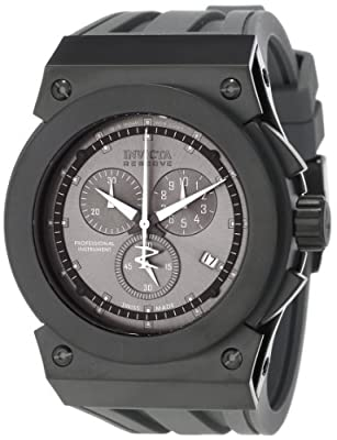 Invicta Men's 12027 Akula Reserve Chronograph Gunmetal Dial Grey Silicone Watch