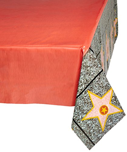 "Beistle 57344 Carpet ""Star"" Tablecover, 54 by 108-Inch, Red"