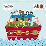 Happy Spaces (54 x 54 x 2 cm) Kids Wall Art Canvas Print Noah's Ark by Lesley Grainger