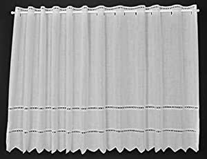 21 cm breite scheibengardine batist mit lochstickerei 57 cm hoch k che haushalt. Black Bedroom Furniture Sets. Home Design Ideas