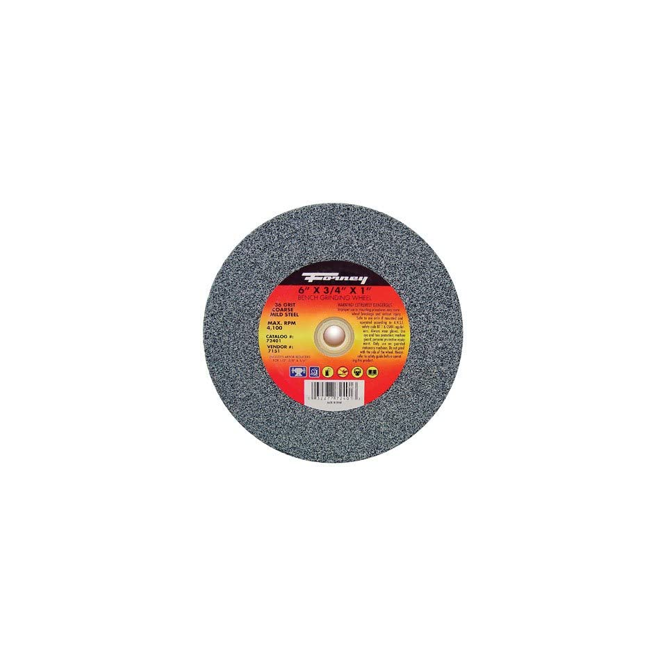 Forney 72401 Bench Grinding Wheel 6-Inch-by-3//4-Inch 36-Grit