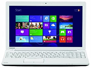 "Toshiba Satellite C55-A-1U8 PC portable non tactile 15.6"" Blanc (Intel Core i3, 4 Go de RAM, Disque dur 1 To, NVIDIA GeForce GT740M, Windows 8)"