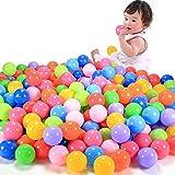 E Support™ 100 Stück Bunte Kinderbälle Spielbälle Bällebad Kugelbad Plastikbälle