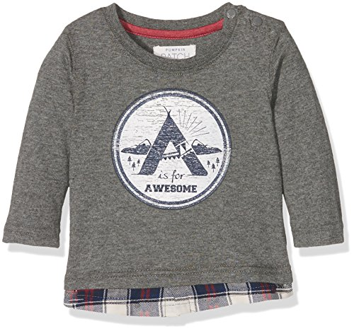 pumpkin-patch-baby-boys-0-24m-tee-with-check-tail-shirt-grey-concrete-marle-0-3-months