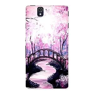 Ajay Enterprises Pink Nature Garden Back Case Cover for Sony Xperia Z