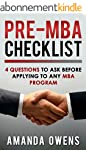 MBA Admissions: Pre-MBA Checklist: 4...