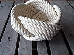 Decorative Knotted Cotton Rope Bowl 7 \