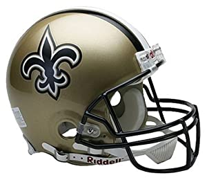 Riddell New Orleans Saints Proline Authentic Football Helmet by Riddell