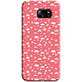 Tecozo Designer Printed Back Cover For Samsung Galaxy S7, Samsung Galaxy S7 Back Cover, Hard Case For Samsung Galaxy S7, Case Cover For Samsung Galaxy S7, (Pink Pattern Design,Pattern/ Colourful)
