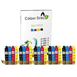Colour Direct Lot de 20 cartouches d'encre pour imprimantes Epson Stylus S22 SX125 SX130 SX230 SX235W SX420W SX425W SX430W SX435W SX438W SX440W SX445W BX305F BX305FW