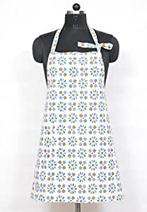 Pas Home Pas Home Aprons for women With Adjustable Neck strap and Waist Ties. Perfet for cooking , baking, barbequing & more. Color: Blue brown