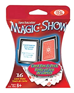 POOF-Slinky - Ideal Spectacular Magic Show 16-Trick Card Box and Deck, 0C1144