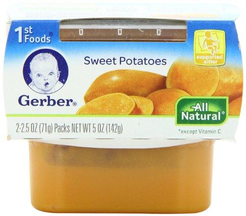 Gerber 1St Foods Vegetables - Sweet Potatoes - 2.5 Oz - 2 Ct - 8 Pk front-60985