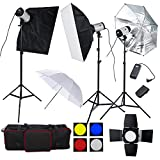 3x 250W Photo Studio Flash Strobe Lights   Flash Output: 250W Guide number (ISO100°Full, Power): 48 Color Temperature: 5400k+/-100k Power Voltage: AC110-240V 50-60Hz Flash Power Control: 1/8-1/1 stepless Recharging Time: 0.5-2s Flash Triggering Metho...