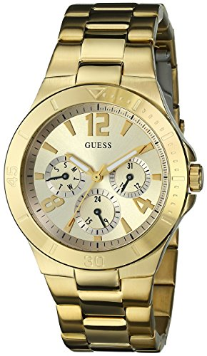 GUESS Women's U12631L1 Active Shine Gold-Tone Watch