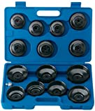 EXPERT 15 PCE OIL FILTER CUP SOCKET SET - Expert Quality, comprehensive set suitable for most common sizes of oil filters fitted to a variety of popular American, European and Far Eastern car marques. Comprises 14 different diameter sockets and 1/2