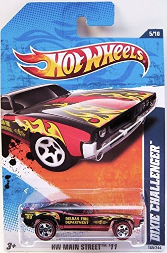 Hot Wheels - Dixie Challenger - Black/Red - REDLINES - HW Main Street '11 [5/10, 165/244]