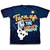 Disneys Frozen Olaf Turn up the Heat T Shirt - Navy (4)