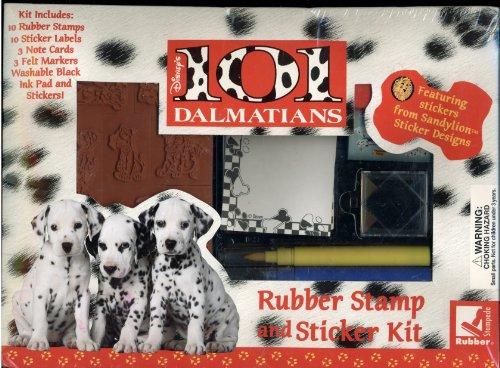 Walt Disney's 101 Dalmatians Rubber Stamp and Sticker Kit Featuring Stickers from Sandylion Sticker Designs