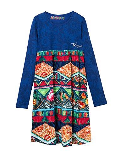 Desigual Baton, Vestito Bambina, Blu (Crown Jewel), 116 cm (Taglia Produttore: 6/5/2016)