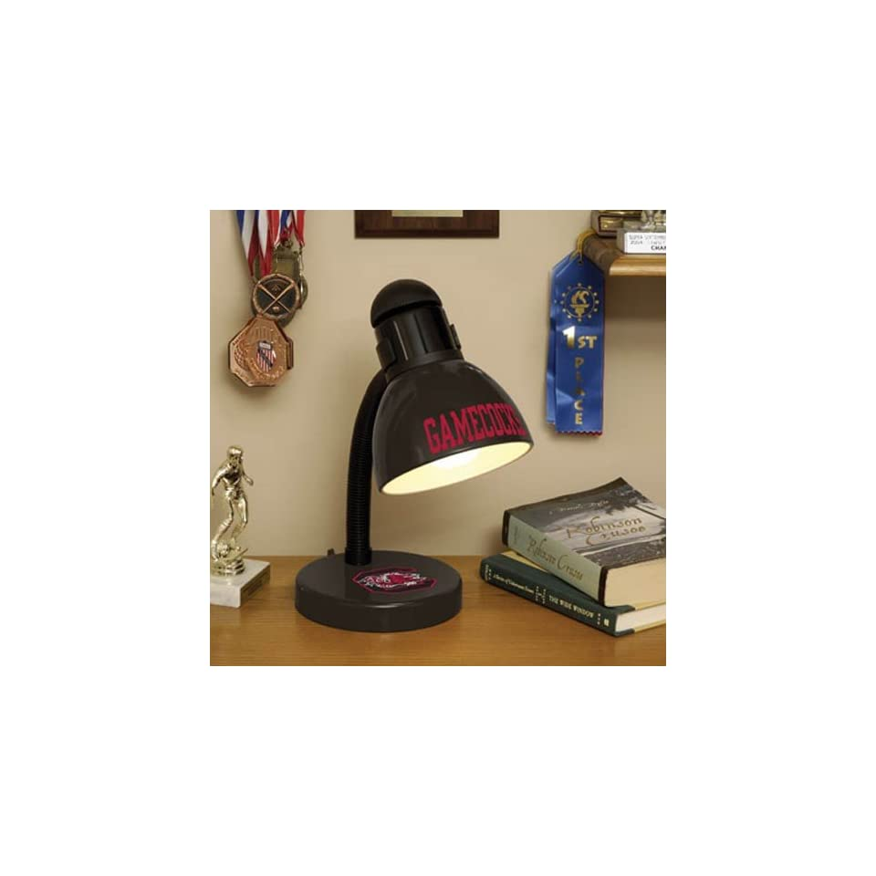 South Carolina Gamecocks Black Desk Lamp