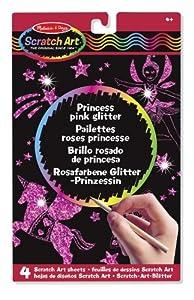 Melissa & Doug Princess Glitter Scratch Art Boards (Pink)