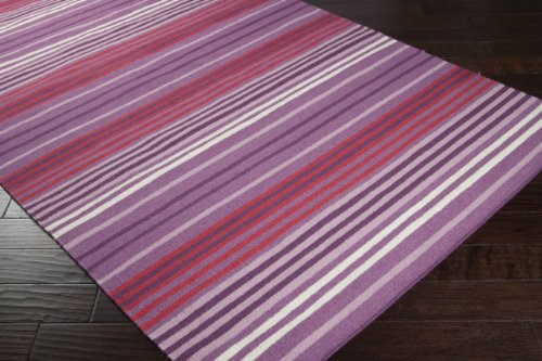 Country Living by Surya Happy Cottage HC-5808 Transitional Hand Woven 100% Wool Red Grape 3'6