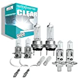 100w Clear Xenon High (main) / Low (dipped) / Fog / Side beam upgrade HeadLight Bulbs VAUXHALL COMBO utility/combi DI 16V 10.01->