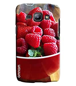 Omnam Cherries Printed Printed Designer Back Cover Case For Samsung Galaxy J1