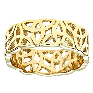 Luisant 9ct Yellow Gold Band Ring Size H