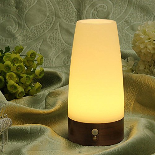 1Pc Stunning Modern Cylinder Shape LED Nightlight Mini Pocket Long Lasting Effective Bright Warm White Light