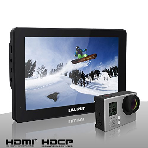LILLIPUT 7″ Mopro 7″ X-Sports 1280×800 IPS HD Camera HDMI AV Field Monitor For DSLR GoPro Hero 3 Hero 3+ Hero 4 BMPCC Canon 5D 7D 720D NIkon D760 D750 D800 D810 D810S D7100 D7000 SONY A7S A7 A7R A7R II