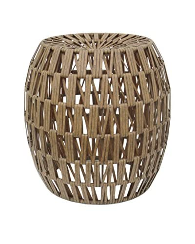 Three Hands Interlocked Design Stool, Natural As You See