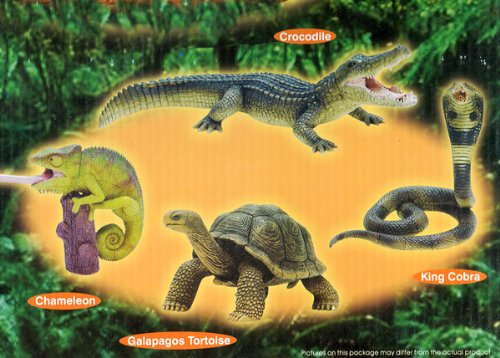 Picture of Toysmith 4d Reptiles Puzzles Set of Four Reptiles, Crocodile, Chameleon, Galapagos, King Cobra Figure (B003KIWVEM) (Toysmith Action Figures)