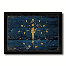 Indiana State Vintage Flag Collection Western Interior Design Souvenir Gift Ideas Wall Art Home Decor Office Decoration - 23\