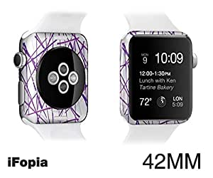 Apple Watch waterproof Special body protector film accessories case for making(customizing) new apple watch with EDGE SKIN-iFopia /PUPLE_LINE(18)