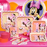 Minnies 1st Birthday Standard Party Pack for 8 Party Supplies