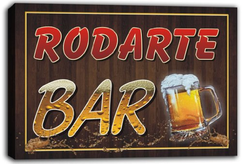 scw3-004655-rodarte-name-home-bar-beer-mugs-stretched-canvas-print-sign