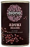 Biona Organic Aduki Beans 400 g (Pack of 12)