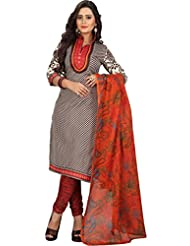 Sonal Trendz Brown Color Polycotton Printed Dress Material.Party Wear Festive Wear. - B019IHKRCQ
