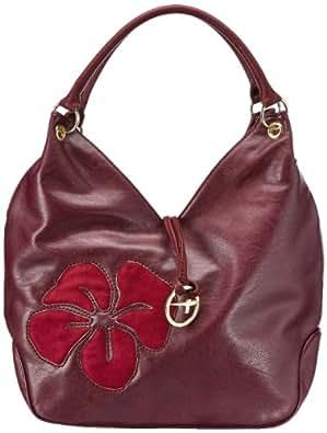 Tamaris LUNA Satchel Bag A11903549, Damen Schultertaschen, Rot (bordeaux 549), 43x26x15 cm (B x H x T)